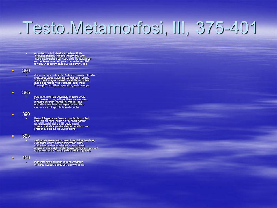 .Testo.Metamorfosi, III, 375-401