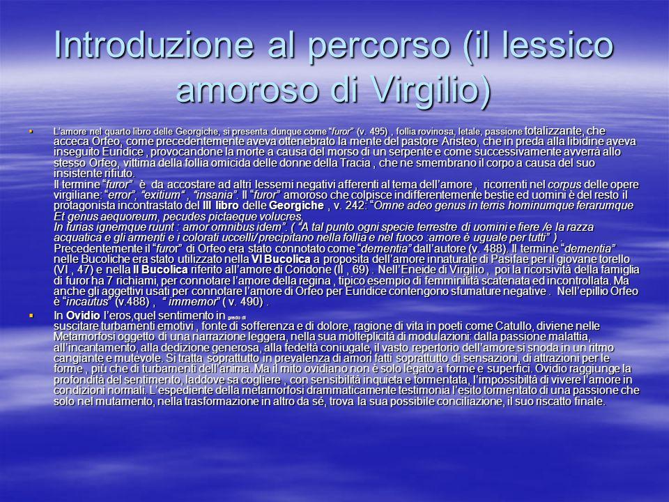 Introduzione al percorso (il lessico amoroso di Virgilio)