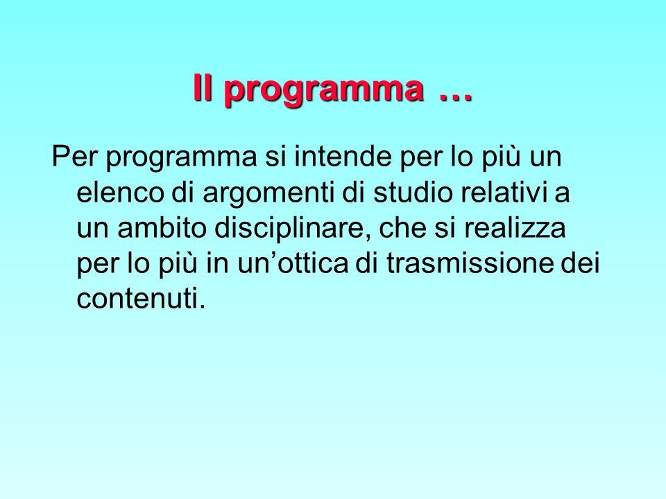 Il programma …