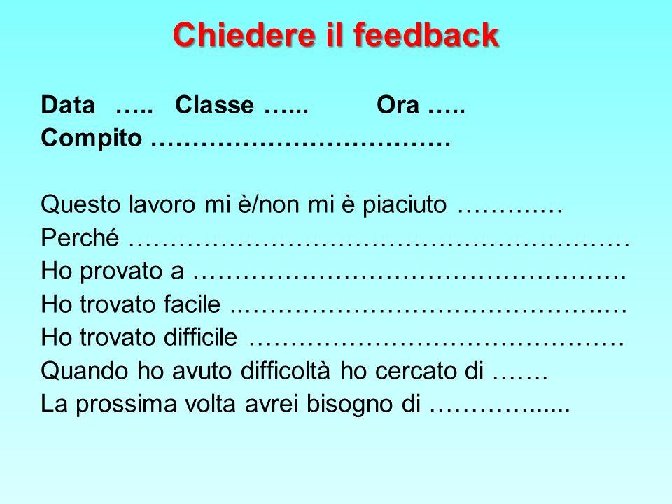 Chiedere il feedback