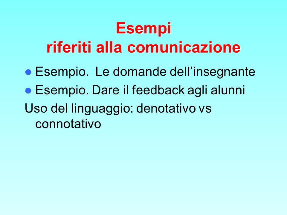 Esempi riferiti alla comunicazione