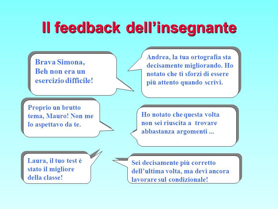 Il feedback dell'insegnante
