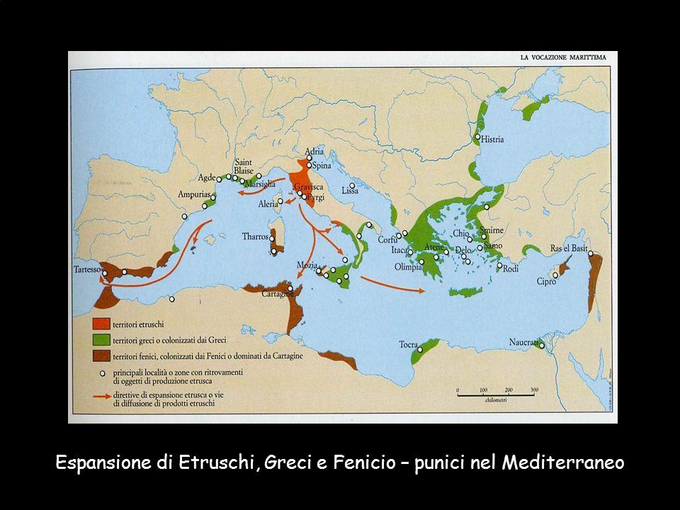 Espansione di Etruschi, Greci e Fenicio – punici nel Mediterraneo