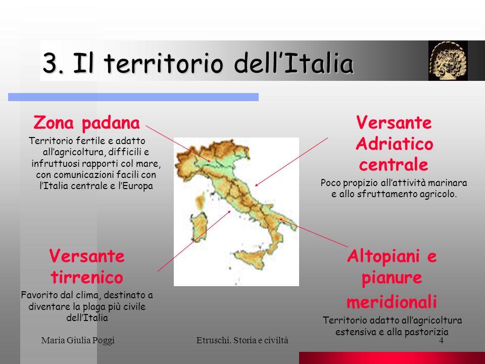 3. Il territorio dell'Italia