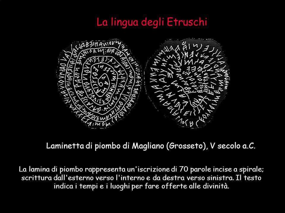 La lingua degli Etruschi