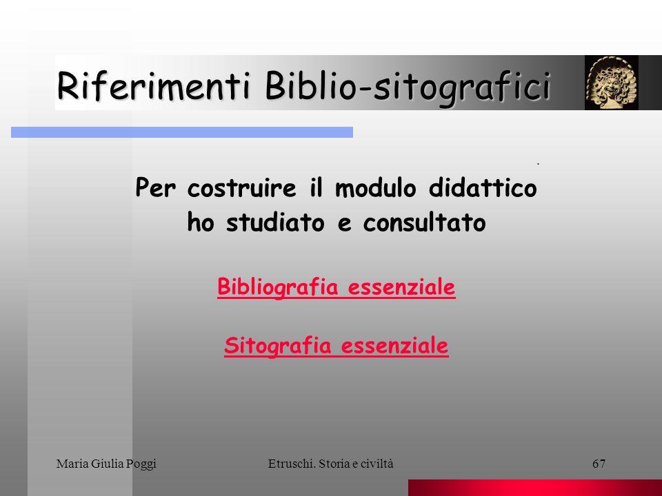 Riferimenti Biblio-sitografici