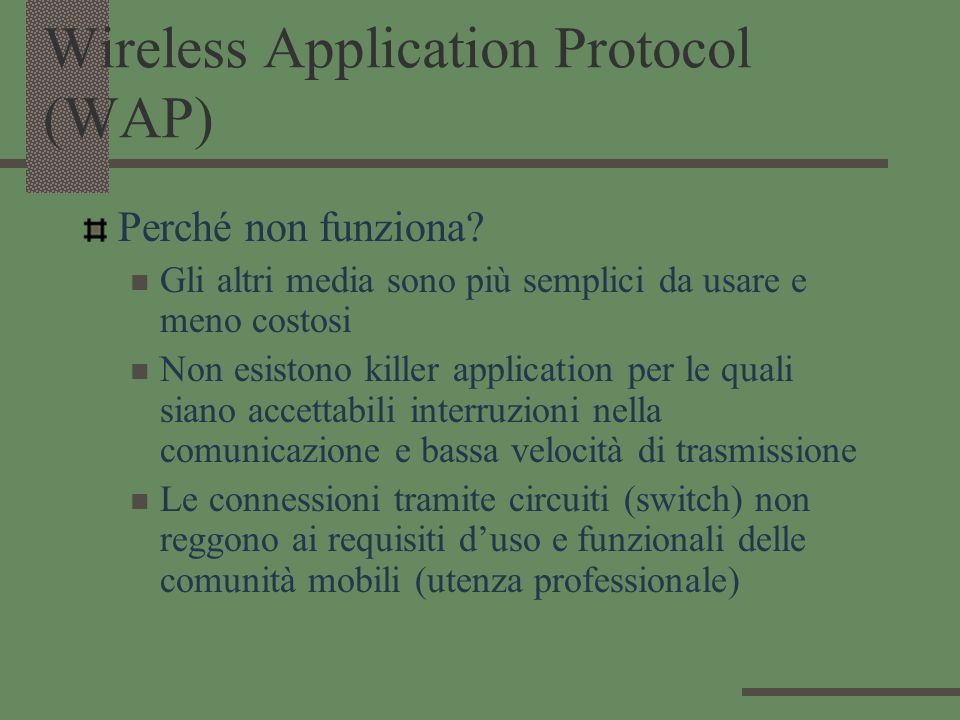 Wireless Application Protocol (WAP)