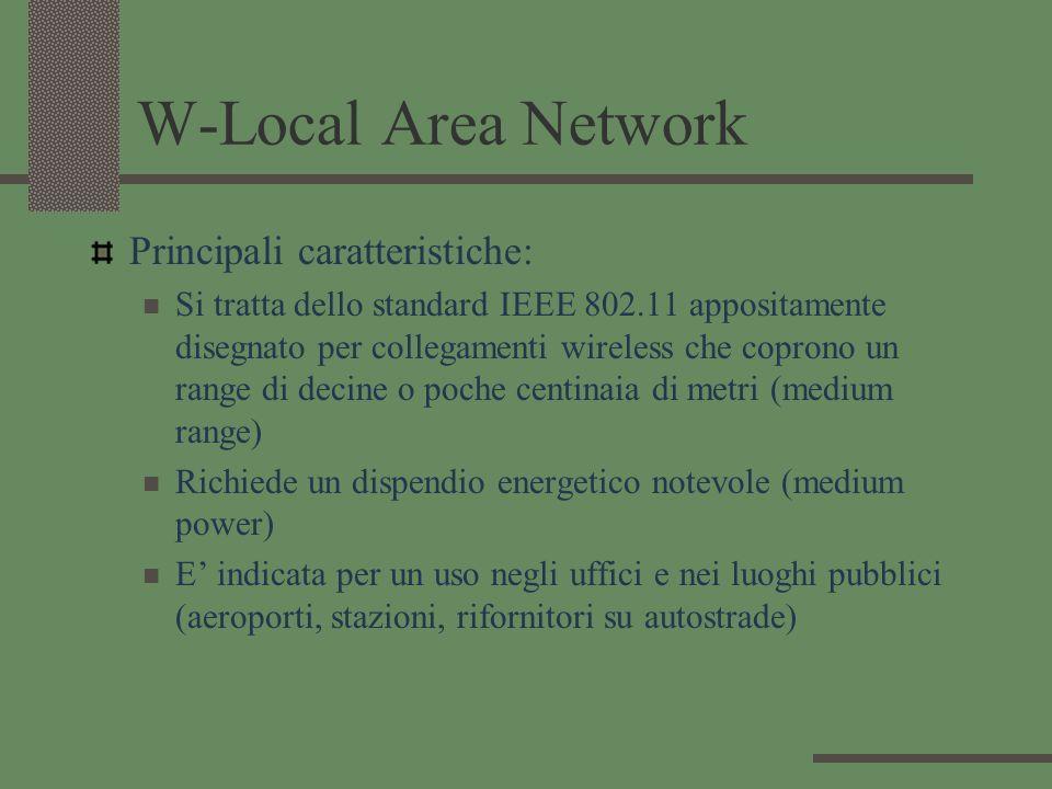 W-Local Area Network Principali caratteristiche: