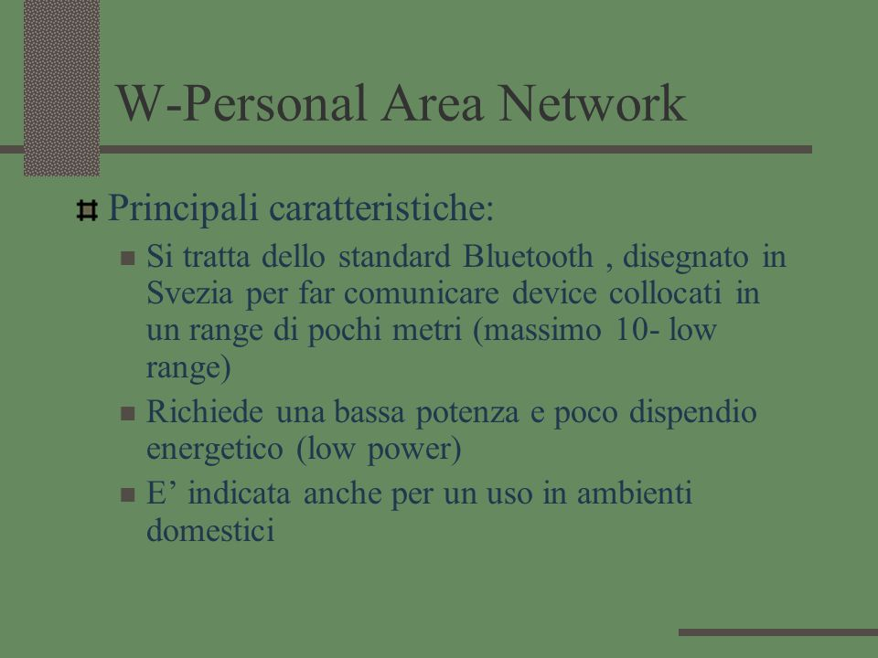 W-Personal Area Network