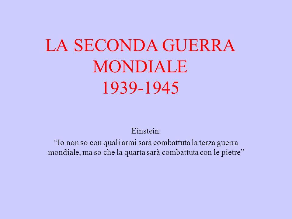 LA SECONDA GUERRA MONDIALE 1939-1945