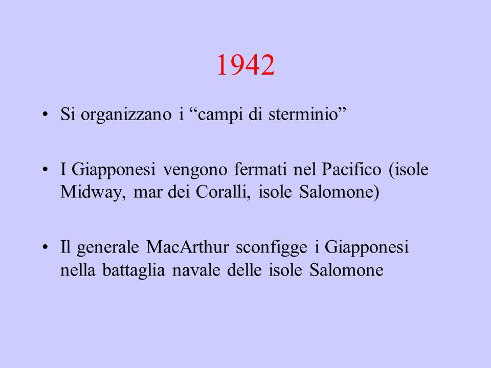 1942 Si organizzano i campi di sterminio