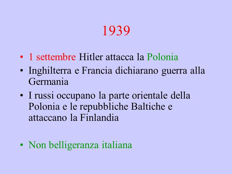 1939 1 settembre Hitler attacca la Polonia