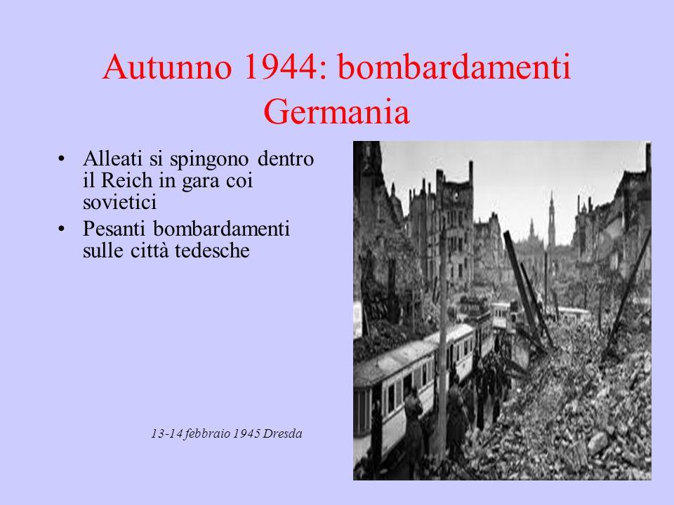 Autunno 1944: bombardamenti Germania