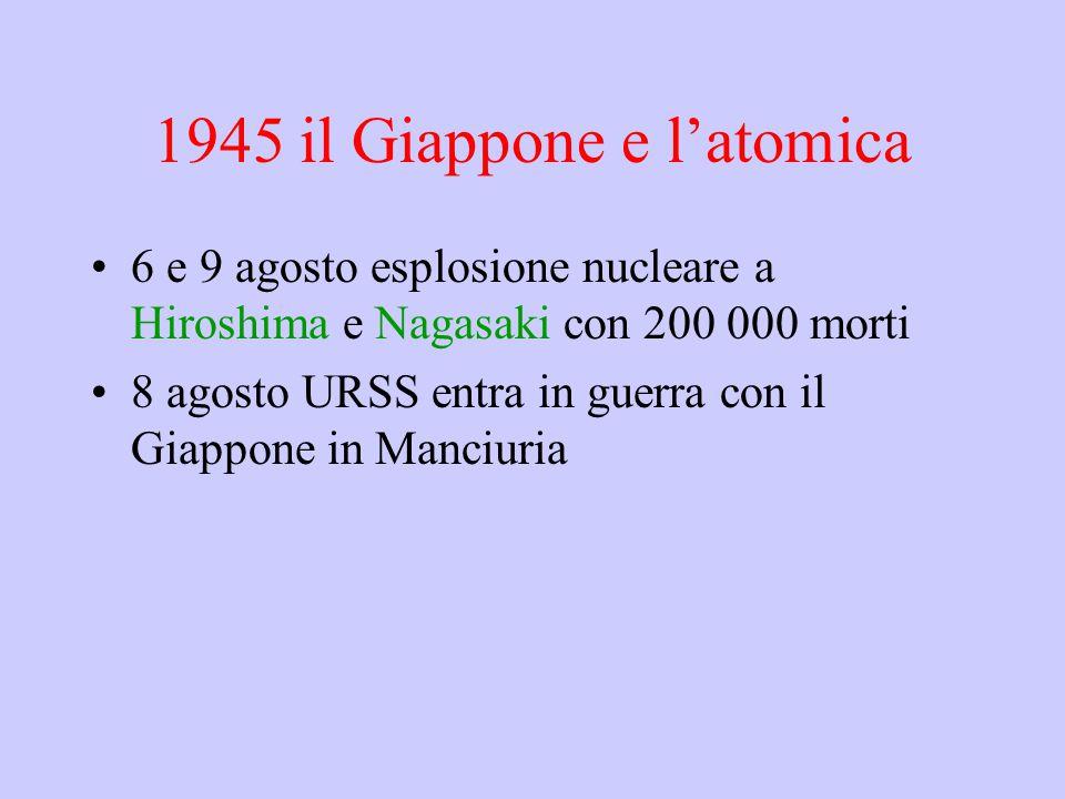 1945 il Giappone e l'atomica