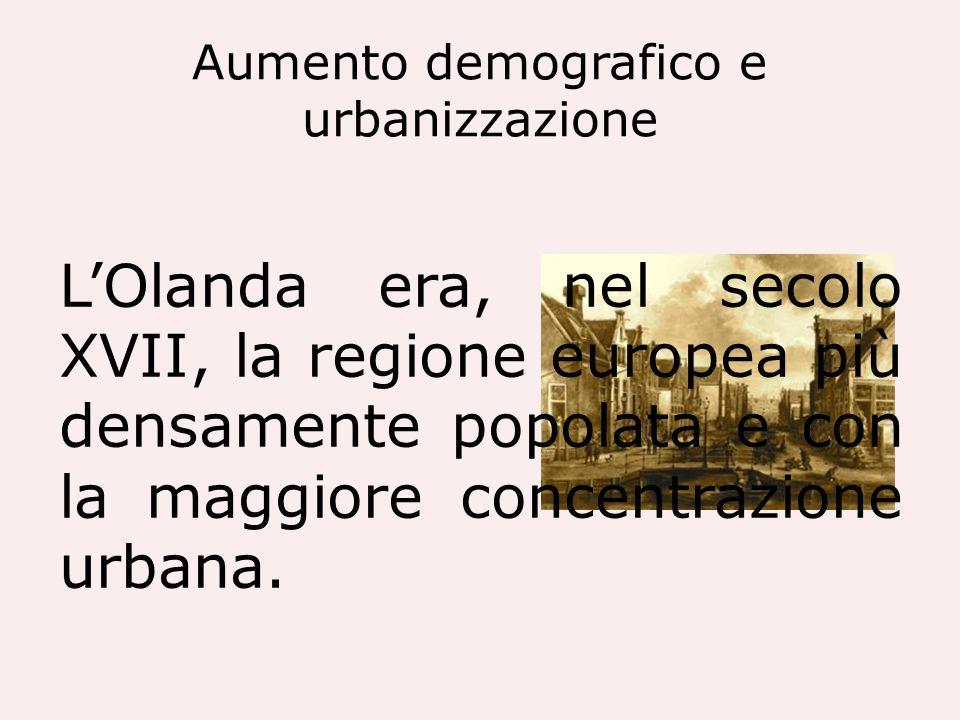 Aumento demografico e urbanizzazione