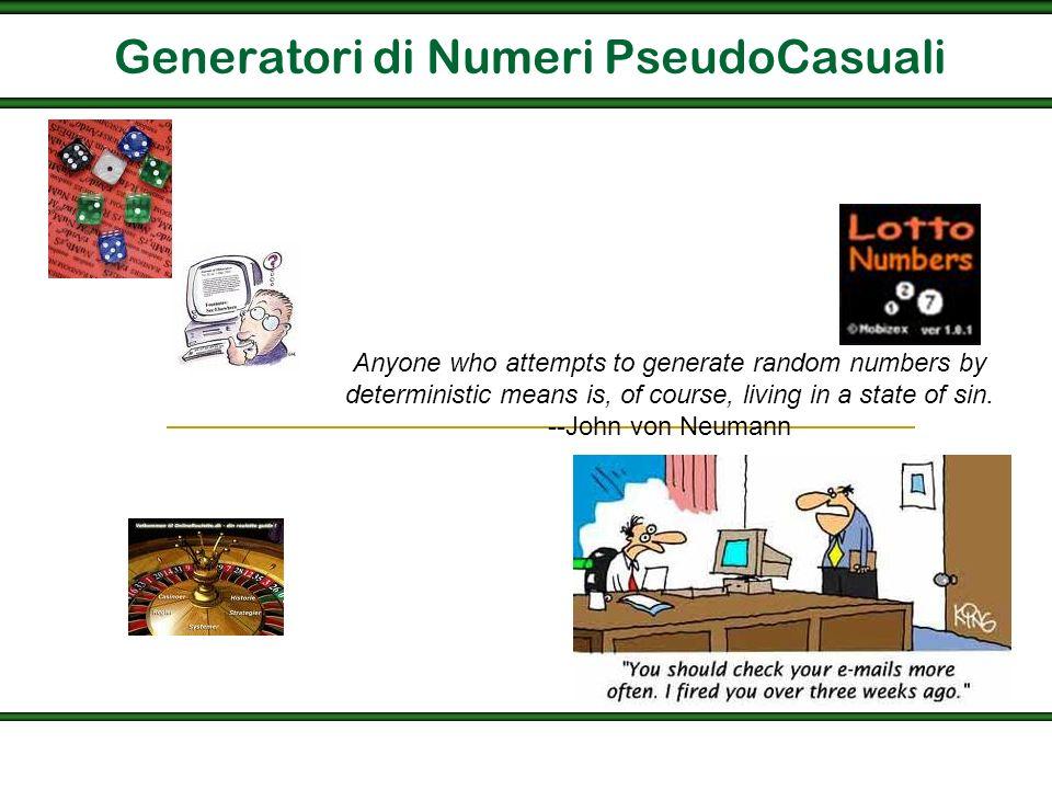 Generatori di Numeri PseudoCasuali