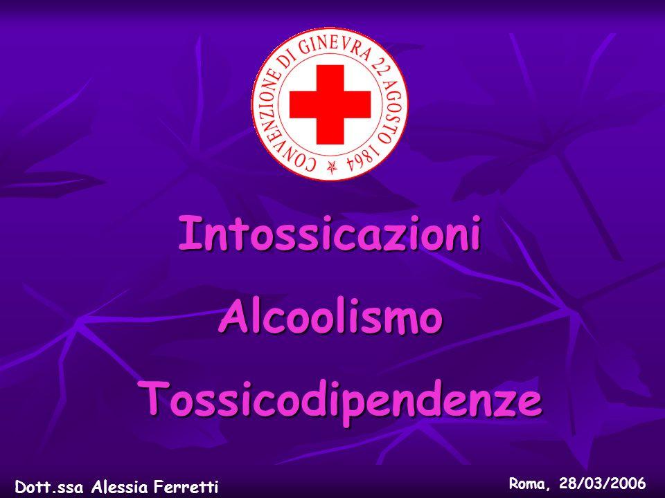 Intossicazioni Alcoolismo Tossicodipendenze