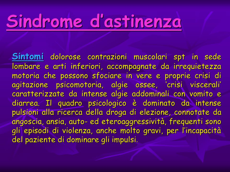 Sindrome d'astinenza
