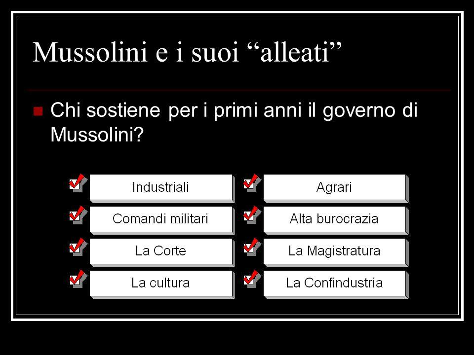 Mussolini e i suoi alleati