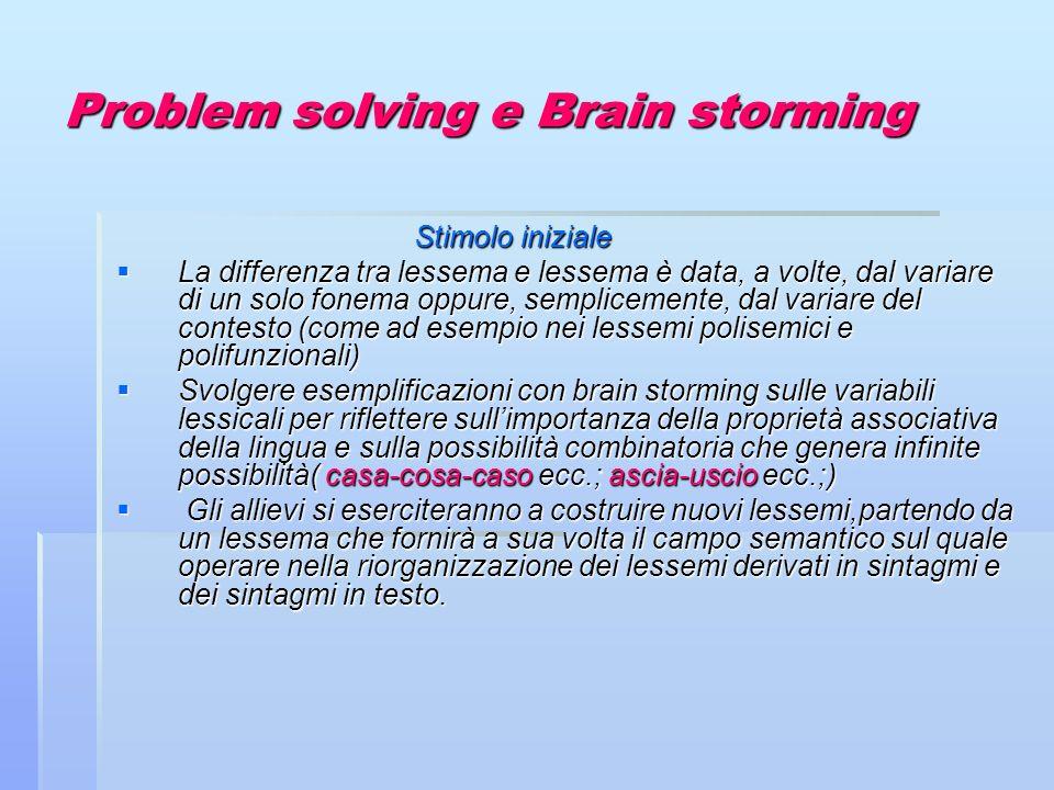Problem solving e Brain storming