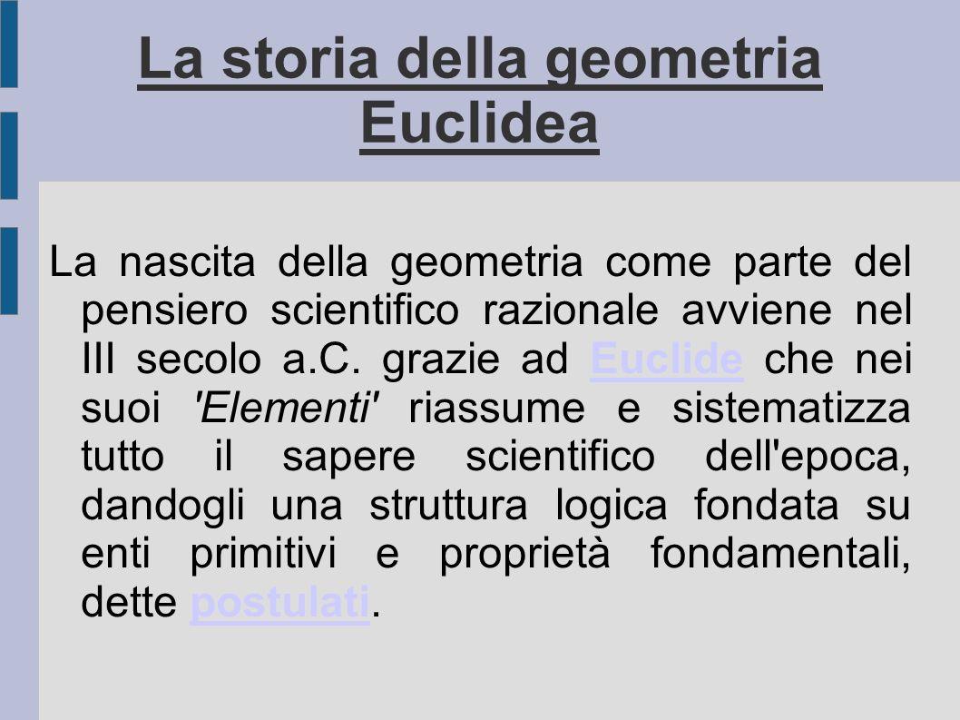 La storia della geometria Euclidea