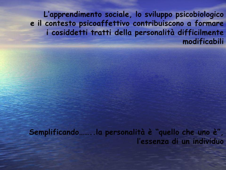 L'apprendimento sociale, lo sviluppo psicobiologico