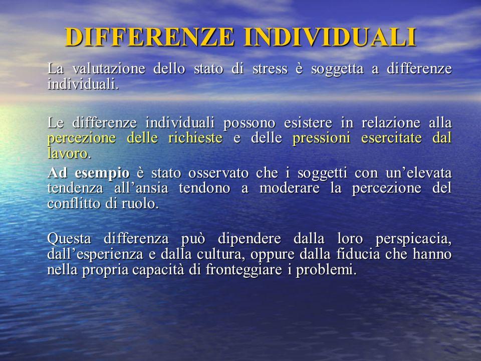 DIFFERENZE INDIVIDUALI