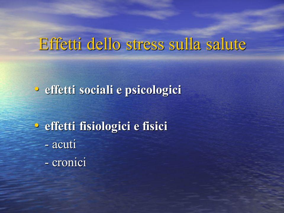 Effetti dello stress sulla salute