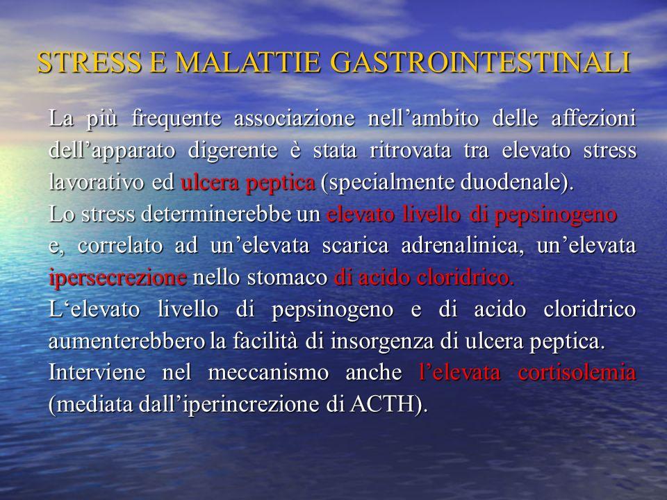 STRESS E MALATTIE GASTROINTESTINALI
