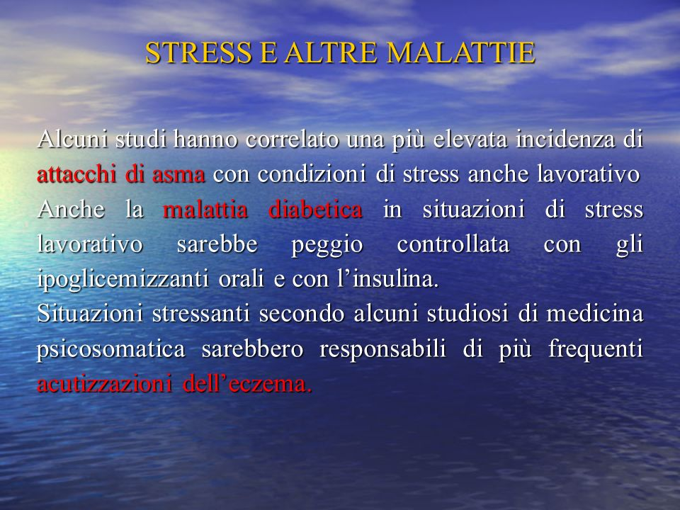 STRESS E ALTRE MALATTIE