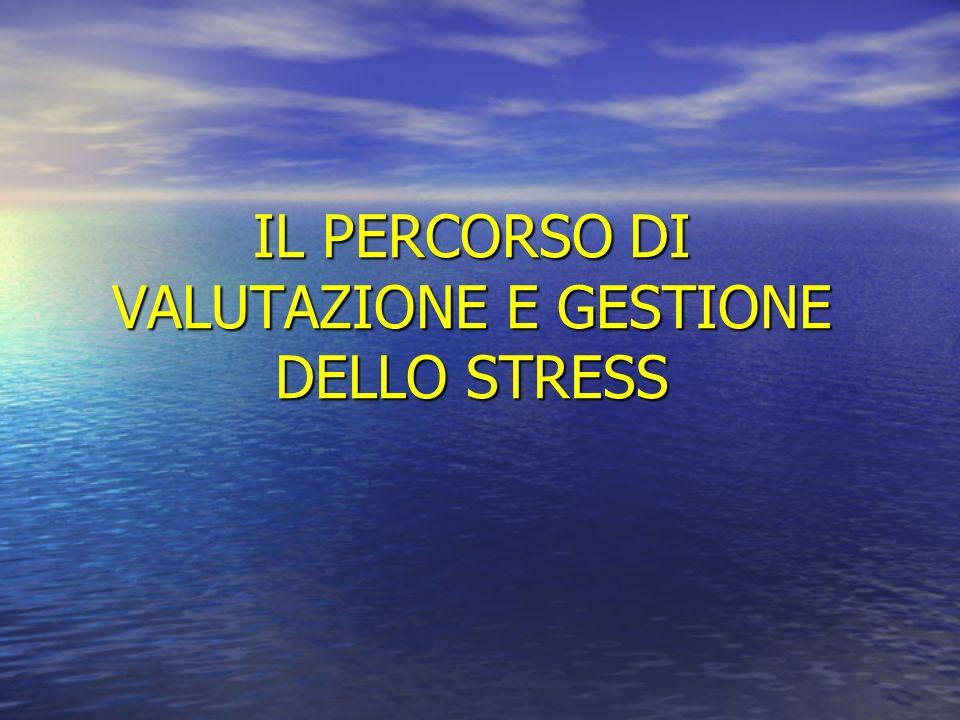 IL PERCORSO DI VALUTAZIONE E GESTIONE DELLO STRESS