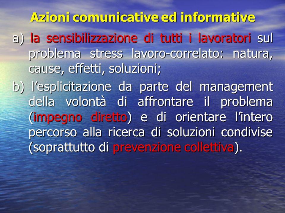 Azioni comunicative ed informative