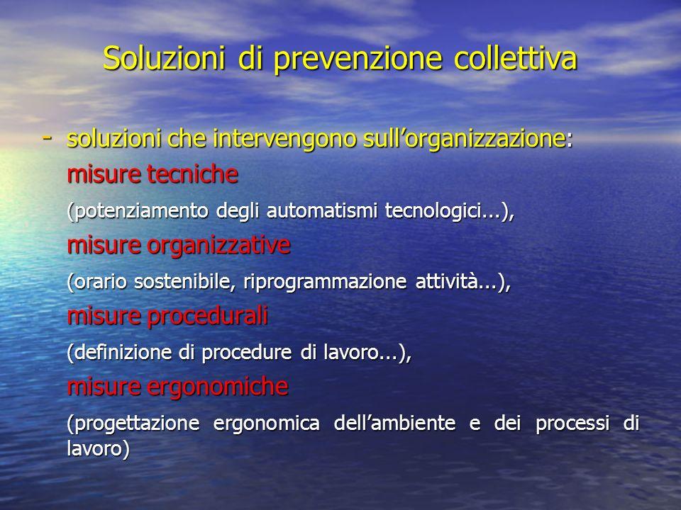 Soluzioni di prevenzione collettiva