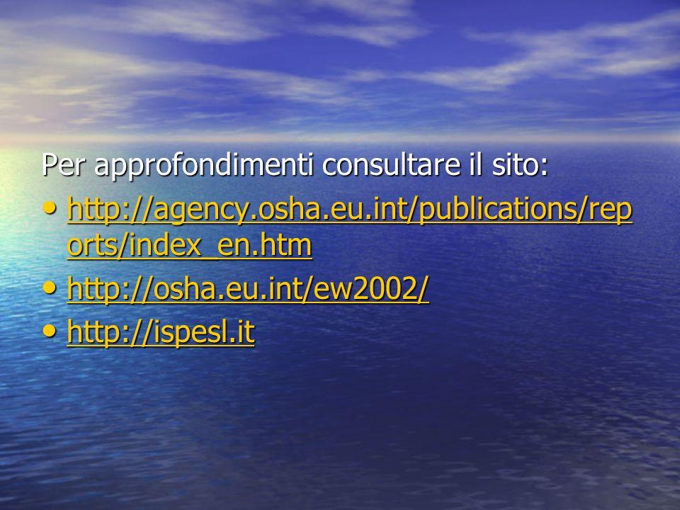 Per approfondimenti consultare il sito:
