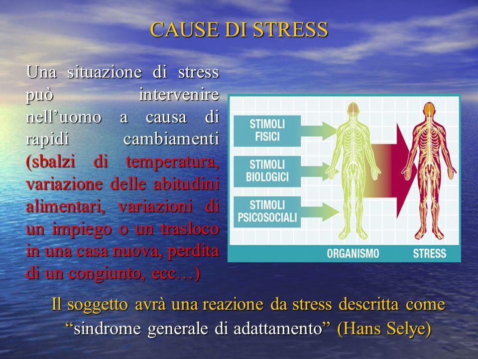 CAUSE DI STRESS