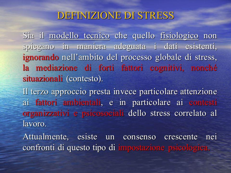 DEFINIZIONE DI STRESS