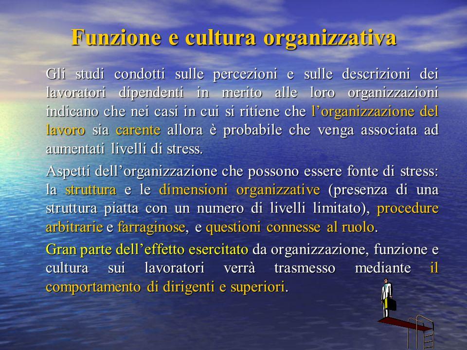Funzione e cultura organizzativa