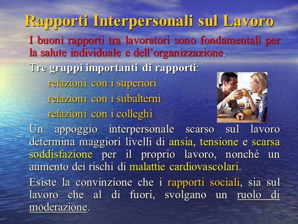 Rapporti Interpersonali sul Lavoro