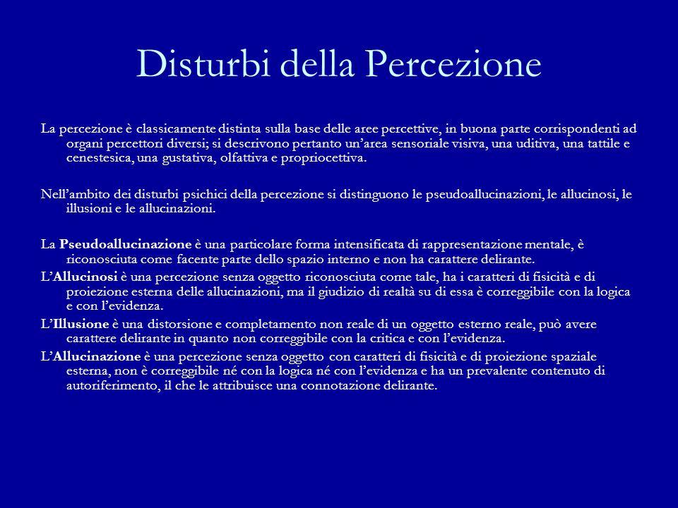 Disturbi della Percezione