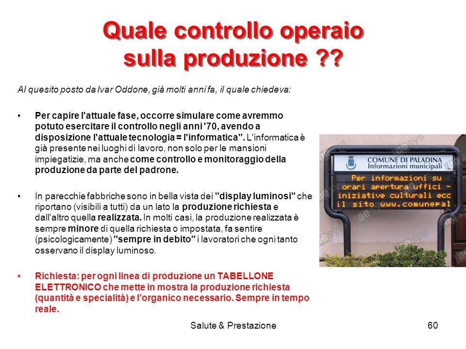 Quale controllo operaio sulla produzione