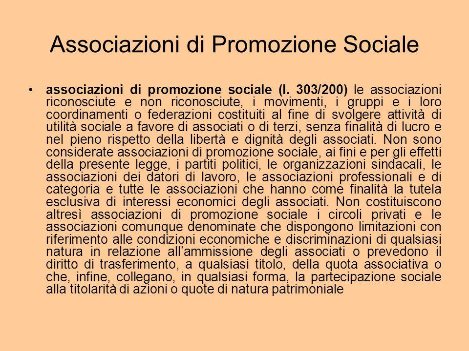 Associazioni di Promozione Sociale