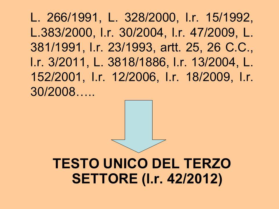 TESTO UNICO DEL TERZO SETTORE (l.r. 42/2012)