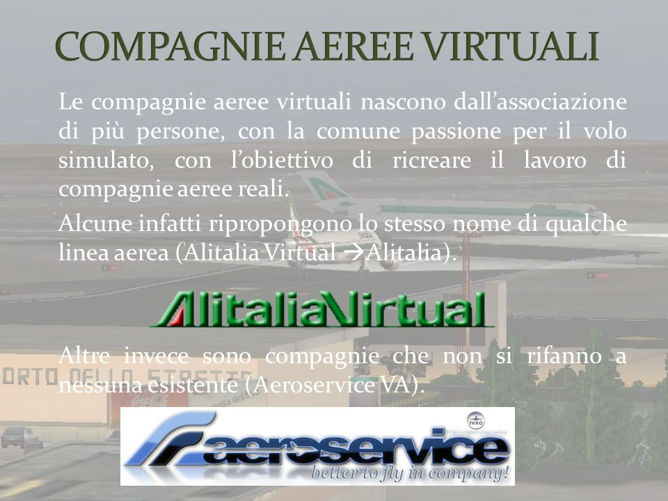COMPAGNIE AEREE VIRTUALI
