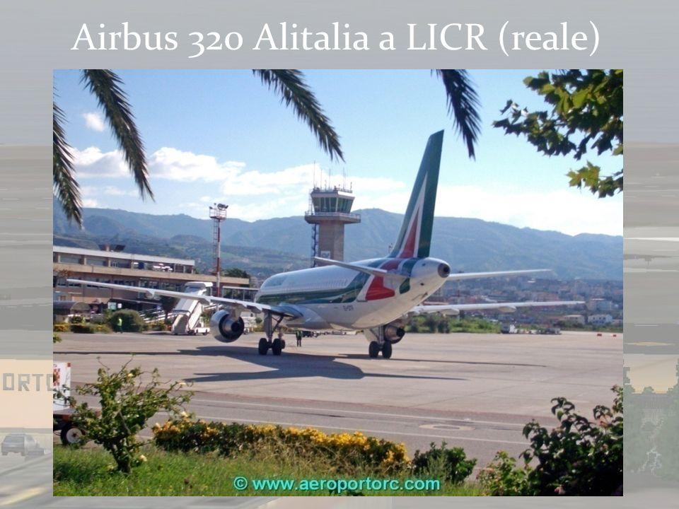 Airbus 320 Alitalia a LICR (reale)