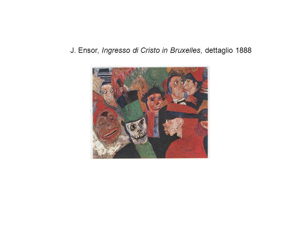 J. Ensor, Ingresso di Cristo in Bruxelles, dettaglio 1888