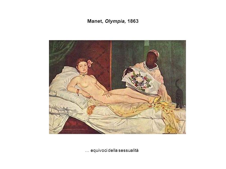 Manet, Olympia, 1863 … equivoci della sessualità