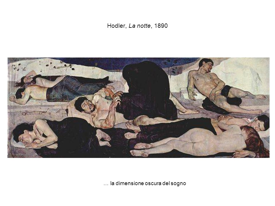 Hodler, La notte, 1890 … la dimensione oscura del sogno