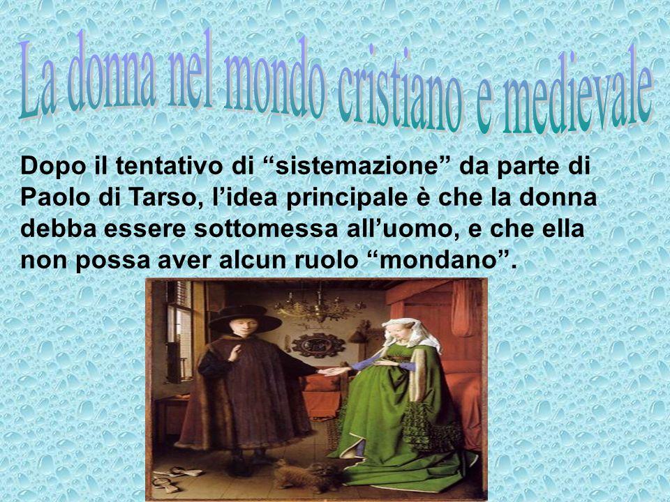 La donna nel mondo cristiano e medievale