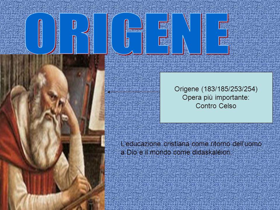 ORIGENE Origene (183/185/253/254) Opera più importante: Contro Celso