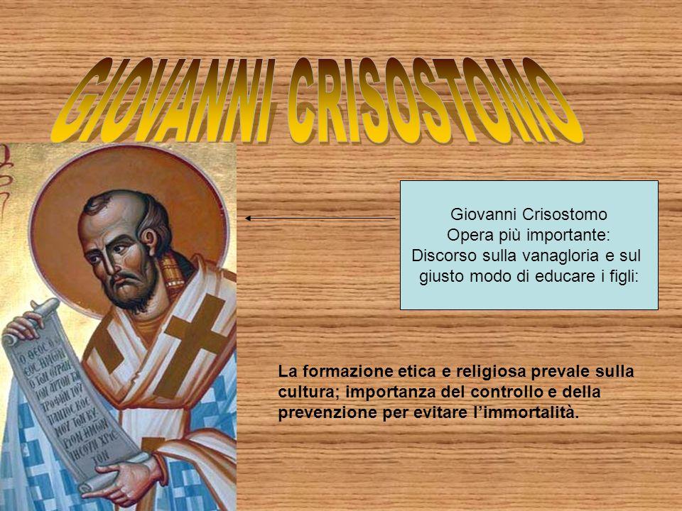 GIOVANNI CRISOSTOMO Giovanni Crisostomo Opera più importante: